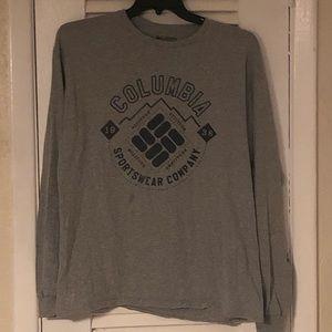 Columbia men's long sleeve grey logo shirt